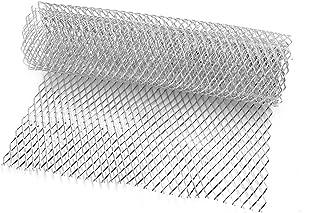 sourcing map 25mmx11mm Ojo Hexagonal Malla Veh/ículo Rejilla Delantera Parrilla Aleaci/ón de Aluminio 100cm x 33cm