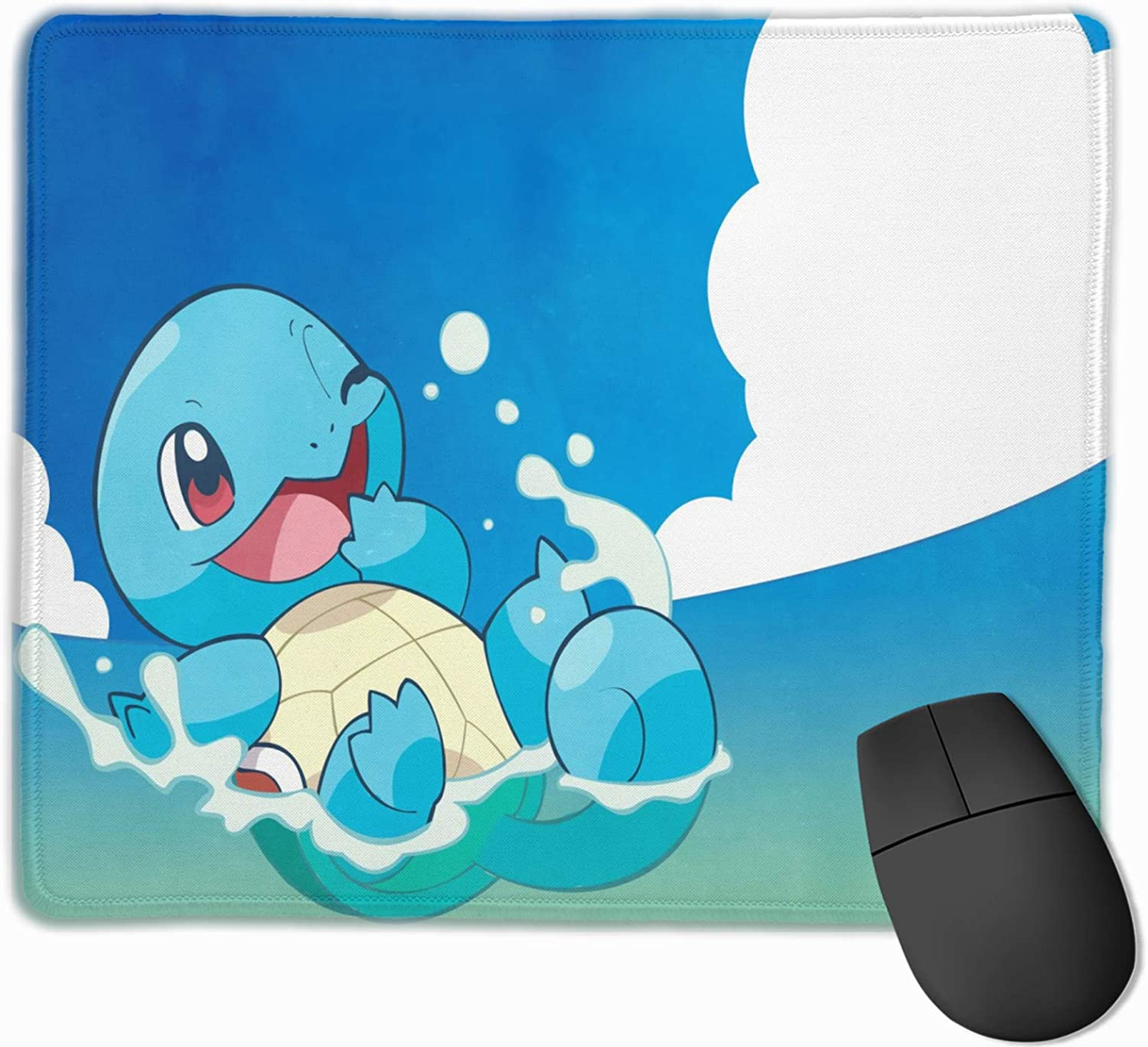 Department store Anime Squir-tle Mouse Pad Blue Base Rubber Stit Anti-Skid Quantity limited with