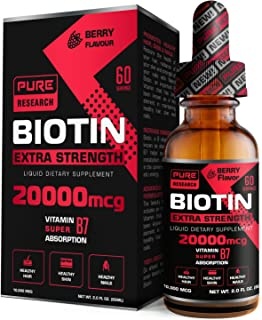Sponsored Ad - Highest Strength Pure Biotin Liquid Drops, 20000 mcg, 60 Servings, Vegan Friendly, Supports Healthy Hair Gr...