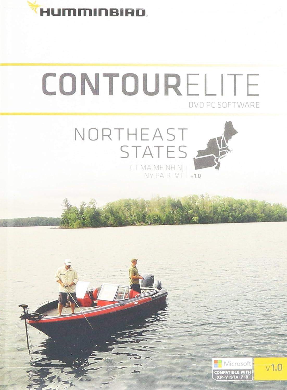 Humminbird Lakemaster Northeast States Contour Elite Map Software, Black MultiColoured