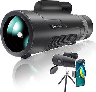 Inskondon Telescopio monocular 12x50 HD monocular Scope BAK-4 Prism FMC lente visión nocturna monocular con kit de Digisco...
