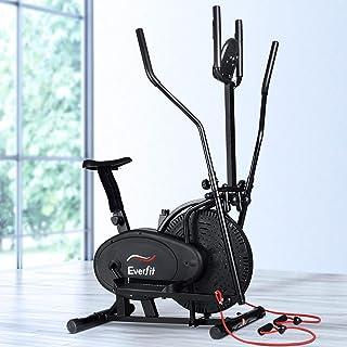 Everfit Elliptical Cross Trainer Magnetic Exercise Bike Resistant Adjustable 120kg Capacity Flywheel Stationary Cycling w/...