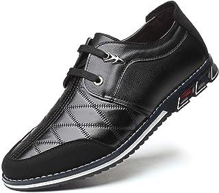 Zapatos Derby Brogue Oxford con Cordones Mocasines Clásicos Hombre Zapatos de Cuero Boda Negocios Calzado Informal Cómodas