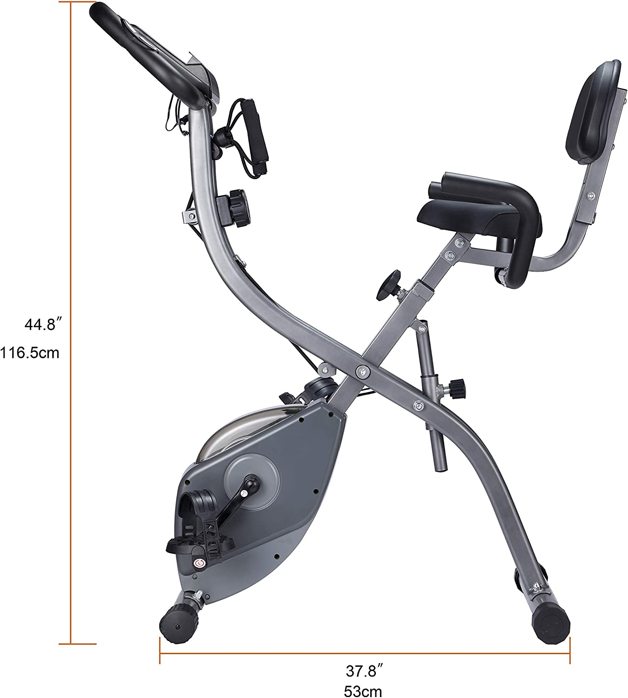 con sensores de pulso de mano para deportistas y personas mayores Bicicleta est/ática avanzada con pantalla LCD WENHAUS plegable niveles de resistencia ajustables plegable bicicleta de spinning