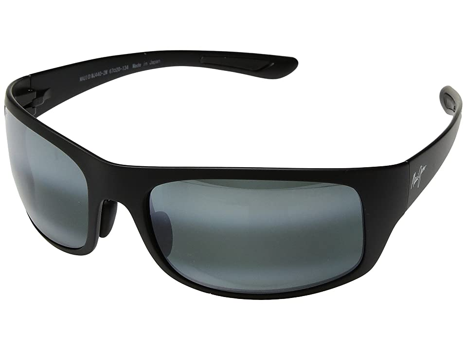 Maui Jim Big Wave (Matte Black/Neutral Grey) Athletic Performance Sport Sunglasses