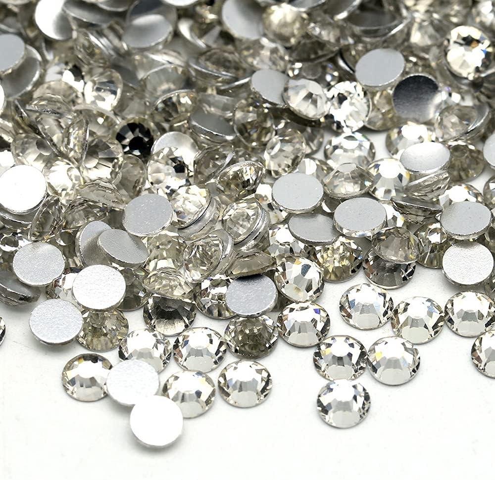 HCBLUE 1440 Luxury Pieces Clear Max 46% OFF Crystal Rhinestones Gla Round Back Flat