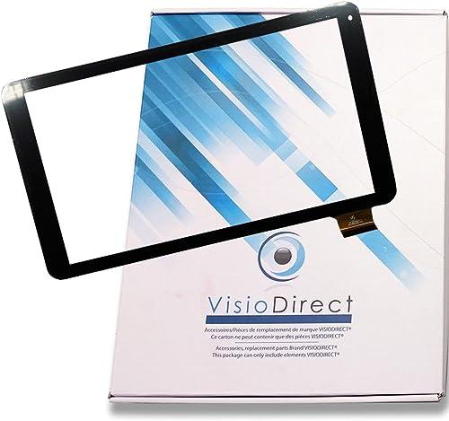 Visiodirect® Vitre ecran Tactile pour Logicom L-Ement Tab 1001 1040 1043 HK10DR2496 Tablette Noire