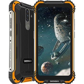 Móvil Resistente, DOOGEE S58 Pro Smartphone 4G Android 10, Cámara Triples 16MP Cámara Frontal 16MP, 6GB+64GB-SD 256GB, 5180mAh, 5.7 Pulgada IP68/IP69K Teléfono Móvil Libre Antigolpes, NFC/GPS, Naranja: Amazon.es: Electrónica