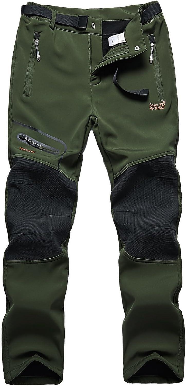 Skyinger Women's Outdoor Windproof Waterproof Softshell Fleece Snow Pants