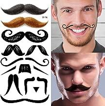 Supperb Temporary Tattoos - Mustache Set, Halloween Face Tattoo