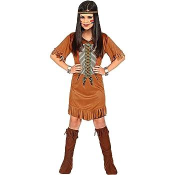 WIDMANN 07865 - Disfraz infantil de india (116 cm), color marrón ...