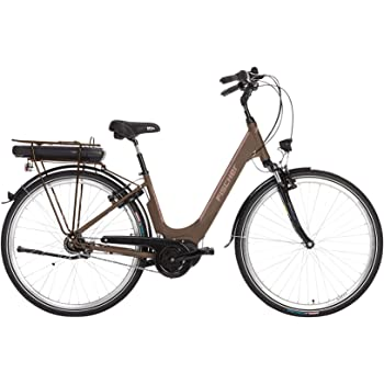 Bicicleta eléctrica Fischer City City City 3.0, color moca mate ...