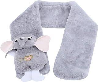 Ciepły szalik, puchowy szalik, śliczny zimowy puch w kształcie zwierząt wiatroodporny i odporny na zimno szalik Odzież Akc...
