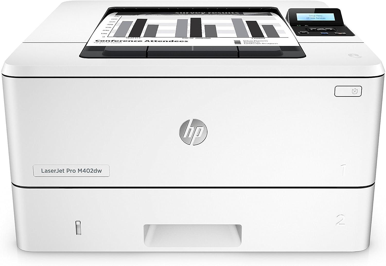 HP Laserjet Pro M402dw Wireless Monochrome Printer, Amazon Dash Replenishment Ready (C5F95A#BGJ) (Renewed)