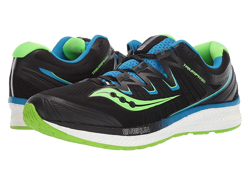 Saucony Triumph ISO 4 (Black/Slime/Blue) Men