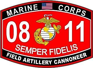 Field Artillery Cannoneer Marine Corps MOS 0811 USMC US Marine Corps Military Window Car Bumper Sticker Vinyl Decal 3.8