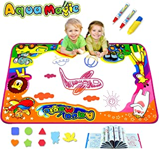 Kulariworld Aqua Magic Doodle Mats Toys for Kids Toddlers Paint Water Drawing Mat Educational Toy Large Size for Boys Girls Gift Age 2,3,4,5,6 Year Old 34.6