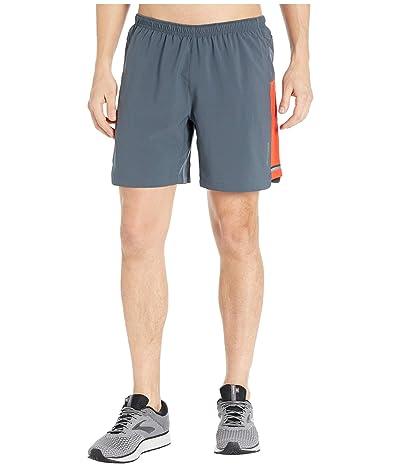 Brooks Sherpa 7 2-in-1 Shorts (Asphalt/Lava) Men