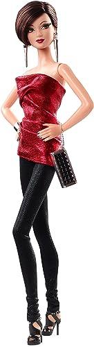 Barbie cjf51 The Look Rot und Schwarz