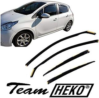 Generico Set DEFLETTORI Antivento Auto Compatibile con Peugeot 508 5P 10-14 PARAVENTO Anti Vento Acqua Turbo Fume G3
