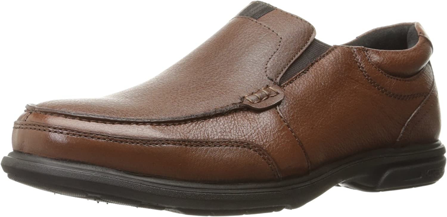 Nunn Bush Men's Carter Slip-On Loafer, Brown, 13 M US