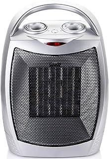 ZJZ Calentador Portátil 1500W, Protección contra Sobrecalentamiento e Inclinación Calefactor Eléctrico Cerámico, 3 Modos Viento Cálido/Natural para Hogar y Oficina con Mango