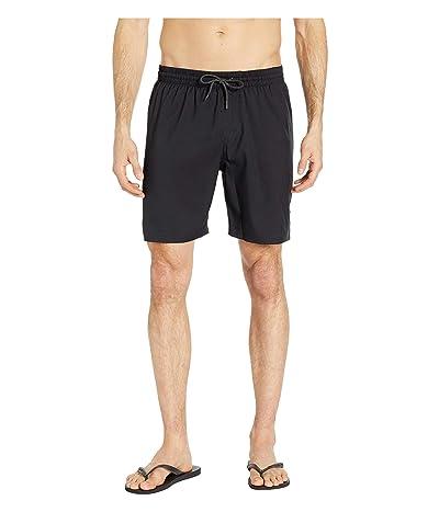 Nike 7 Solid Vital Volley Shorts (Black) Men