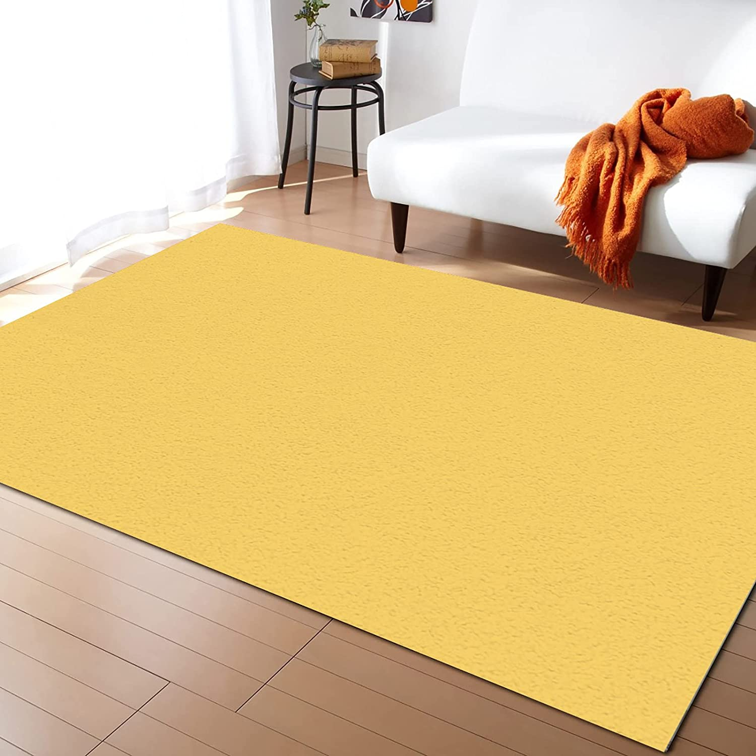Olivefox 4x6 Feet Floor Mat mart Area Solid Yellow R Rug Color Detroit Mall