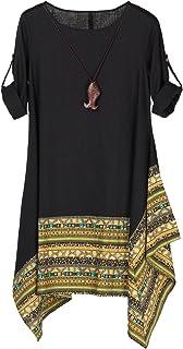 فستان قصير / طويل الأكمام غير منتظم للنساء من Minibee
