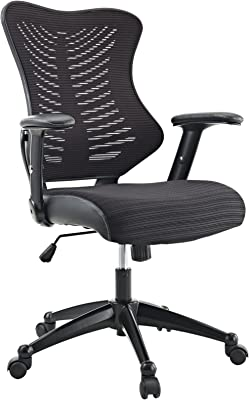 Modway Clutch Ergonomic Mesh Computer Desk Office Chair in Black