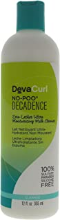Devacurl No-Poo Decadence Milk Cleanser; Zero Lather; Curly Hair; Gentle; Sulfate; Paraben and Silicone Free; 12 Ounce