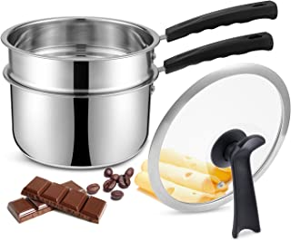 Double Boilers&Classic Stainless Steel Non-Stick Saucepan,Melting Pot for Butter,Chocolate,