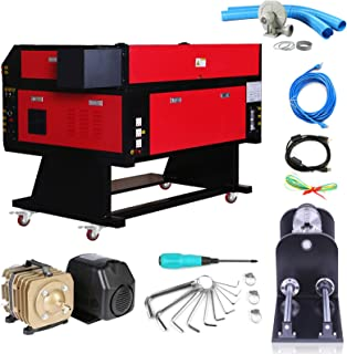 Mophorn Laser Engraver 80W Laser Cutter CO2 Laser Tube Laser Engraving Machine 700MM X 500MM with 80MM CNC Router Rotary Axis