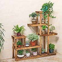 $36 » Wooden Plant Stand, Flower Shelf Holder 5 Tier Storage Rack Shelving Unit - Pot Shelves Bonsai Display Storage Rack Outdoor Indoor Garden Patio for Multiple Plants 37.4x9.84x37.79 Inches