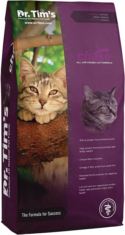 Dr. Tim's Chase Formula Bargain sale Premium Dry Latest item Food Cat 5 lb. Bag
