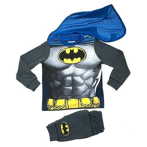 a0176e7636e Kids Boys Fancy Dress Up Play Costumes   Pyjamas Nightwear Pj s Pjs Set  Batman Party Size