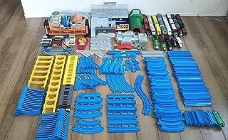 ●プラレール超大量セット!遊び放題!レール超沢山、電車、トーマスぐらぐらつり橋、トミカと合体オート踏切ステーション他 303