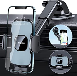 TORRAS Car Phone Holder Mount, [Bulky Case & Big Phone Friendly] 3 in 1 Cell Phone Holder for Car Dashboard Windshield Air Vent, Compatible with iPhone 12 11 Pro Max Samsung Galaxy Note S20 S21 Ultra