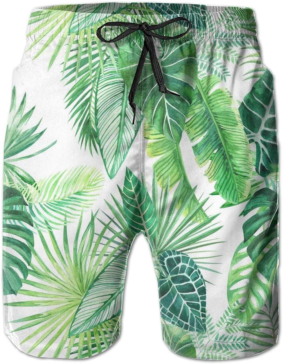 Men's Tropical Leaf Quick High order Dry Ranking TOP12 Short Trunk Fit Surf Be Swim Slim