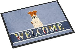 Caroline's Treasures Wire Fox Terrier Welcome Doormat 18 x 27 Multicolor
