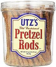 Utz Old Fashioned Pretzel Rods – 27 oz. Barrel – Thick, Crunchy Pretzel Rod, Perfect for Dipping and Snacks, Zero Choleste...