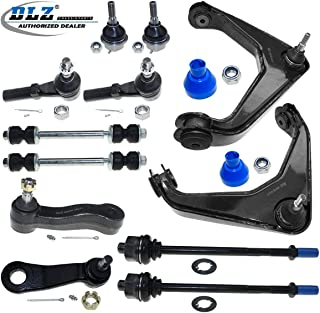 DLZ 12 Pcs Front Suspension Kit-2 Upper Control Arm 2 Lower Ball Joint 4 Tie Rod End 2 Sway Bar 1 Idler Arm 1 Pitman Arm Compatible with Chevrolet Silverado GMC Sierra 2500 3500 (HD Classic) Hummer H2