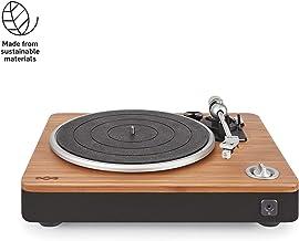 House of Marley، Stir It Up Turntable - 45/33 RPM، جک USB در پشت برای ضبط آنالوگ به کامپیوتر، کارتریج قابل تعویض، تابلو بامبو، EM-JT000-SB Signature Black