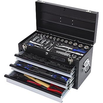 "KS Tools 918.0100 1/4""+1/2"" CHROMEplus Universal-Werkzeug-Satz, 99-tlg. GEAR"