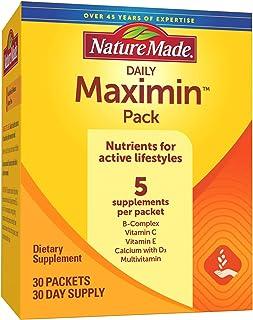 Nature Made Maximin Pack - ویتامین ها برای شیوه های زندگی فعال ، تامین 30 روزه (بسته بندی ممکن است متفاوت باشد)