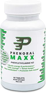 Phenoral Maxx Maximum Strength Weight Loss Diet Pill – Phenylethylamine – Appetite Suppressant and Energy – Boost Your Metabolism While Eating Less