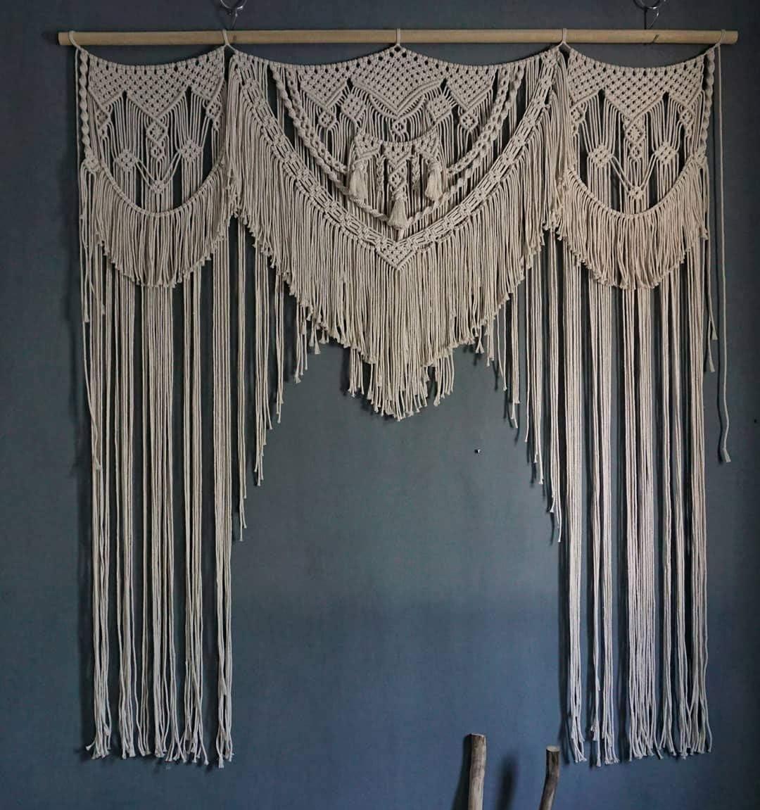 American Knit Translated Bohemian Daily bargain sale Macrame Wedding Boho Chic Decor Backdrop