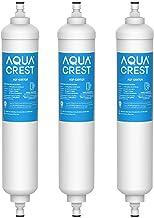AQUA CREST GXRTQR Inline Water Filter, NSF Certified, Compatible with GE GXRTQR, GXRTQ..