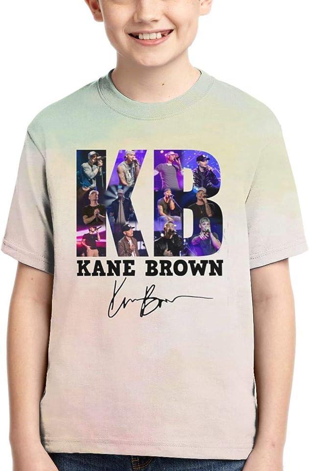 Kane Bro-Wn T-Shirt für Kinder Jungen Mädchen Kurzarm T-Shirt Sommer Top Tees