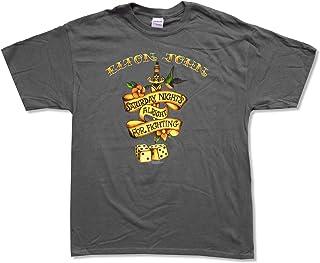 f79b01450 Adult Elton John Saturday Night's Alright For Fighting Grey T-Shirt